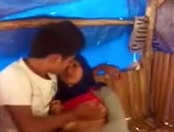 Malay Angel Enjoying Sex With Boyfriend In a Hut