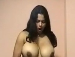 Breasty hot Indian sluttish wife stripteases and gives me head