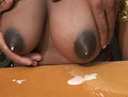 Preggo indian mamma shooting fresh milk