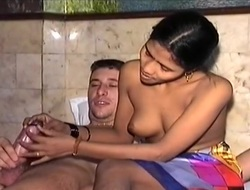 An Indian Girl Shows Her Skill With Dick